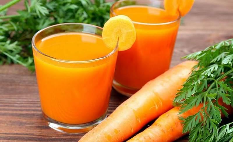 El zumo de zanahoria