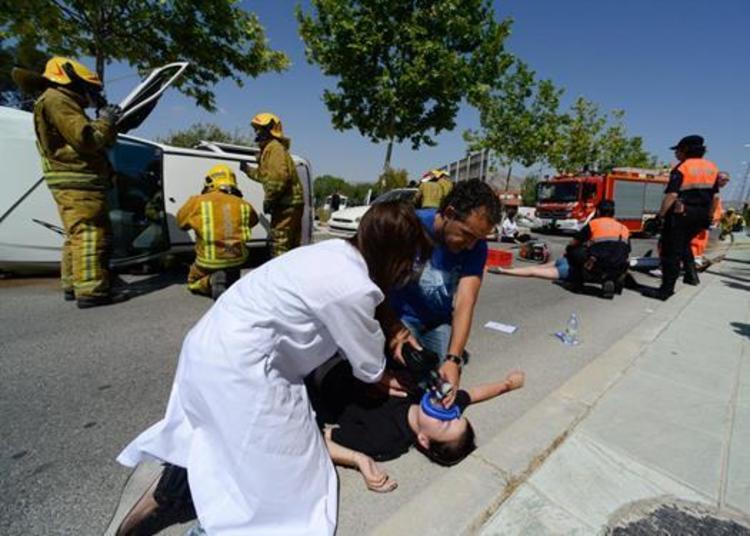 primeros auxilios accidente trafico